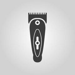 The hairclipper icon. Shaver symbol. Flat