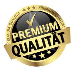 button with text Premium Qualität