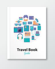 travel book cover design template
