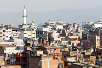 Urban architecture from Kathmandu Nepal City background