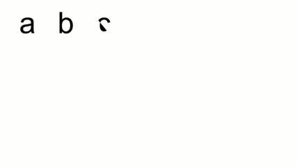 Gezeichnetes Alphabet - Kleinbuchstaben