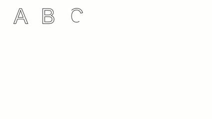 Gezeichnetes Alphabet - Großbuchstaben Outlines
