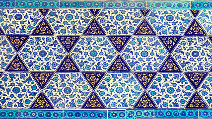 Background in the form of a  tiles with patterns