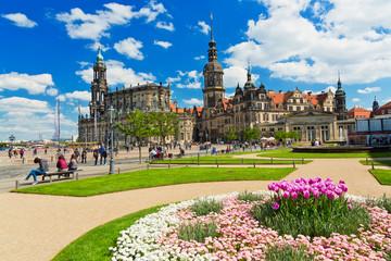 Theaterplatz Dresden, Deutschland