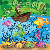 Fisherman Maze Game
