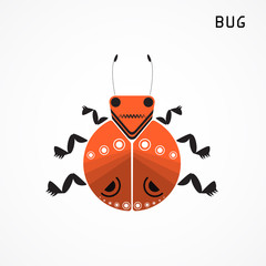 Bug sign. Insect icon.