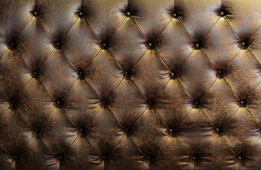 High quality brown leather background.