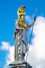 Statue of Pallas Athena Brunnen near Parliament, Vienna, Austria