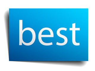 best blue square isolated paper sign on white