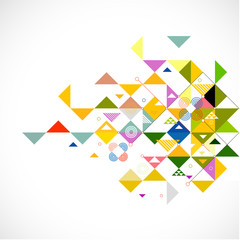 Abstract triangle modern template for business or technology