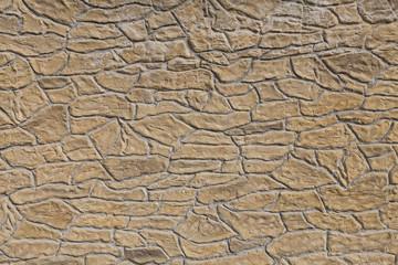 Kitschy cast stone wall