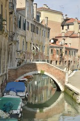 Small Canal in Santa Croce, Venice, Italy