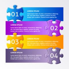 Colorful puzzle design template