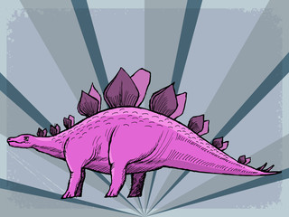vintage background with dinosaur