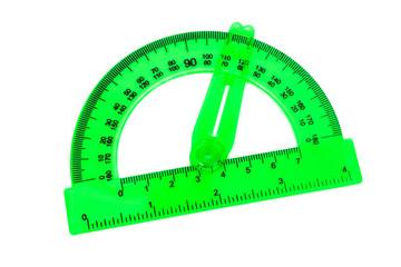 green transparent protractor
