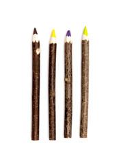 Wooden design of multiple colour pencils
