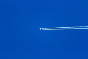 jet airplane on blue sky