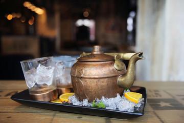 vodka cocktail in tea pot