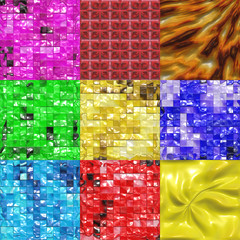 Set of candy tiles textures