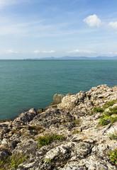 rock and ocean