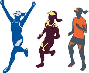 Female Triathlete Marathon Runner Collection