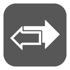The left and right arrows icon. Arrows symbol