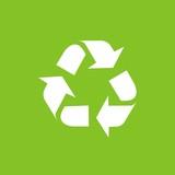 Icono reciclaje verde fondo