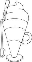 latte macchiato coloring page