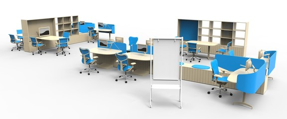 Isolated Office Furniture