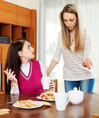 women having conflict