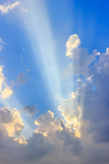 Sunlight with clouds on the blue sky