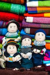 Traditional rag dolls in national clothes, Ecuador
