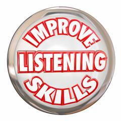 Improve Listening Skills Words White Buton Retain Information