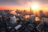 Fototapety Chao Phraya River sunlight bangkok city