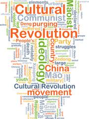 Cultural Revolution background concept