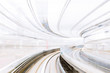 Motion blur of Japanese Railway Tunnel - 83163258