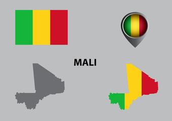 Map of Mali and symbol