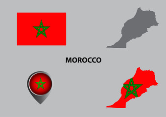 Map of Morocco and symbol