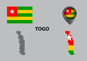 Map of Togo and symbol