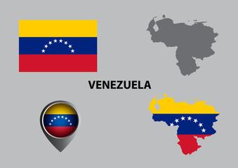 Map of Venezuela and symbol