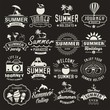 Summer design elements, logos, labels and icons