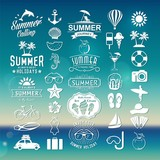 Fototapety Summer design elements, logos, labels and icons