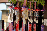 Wind chimes cocoon silk ball, local products, Japan poster