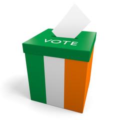 Ireland election ballot box for collecting votes