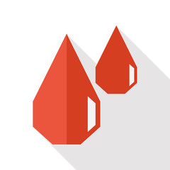 blood flat icon with long shadow