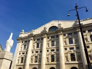 Milano, Piazza Affari - Palazzo della Borsa