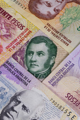 Various banknotes from Argentina