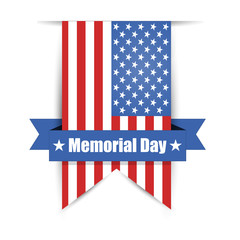 Flag of America to memorial day vector illustration