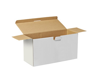 Real Cardboard box with clipping path