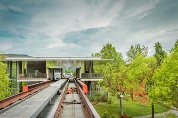 Subway station in the nature. Perugia, Umbria